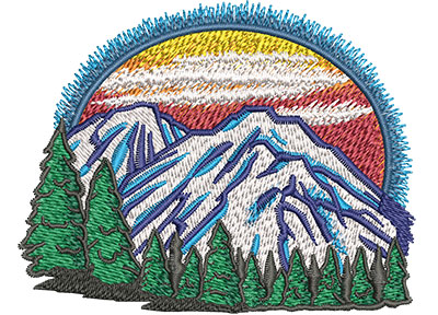 Embroidery Design: Mountains Lg 3.99w X 3.14h