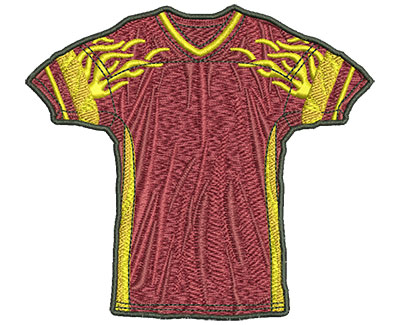 Embroidery Design: Flamed Jersey Lg 4.40w X 3.98h