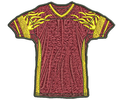 Embroidery Design: Flamed Jersey Med 3.90w X 3.53h