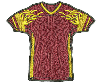 Embroidery Design: Flamed Jersey Sm 3.40w X 3.08h