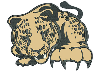 "Embroidery Design: Leopard 8"" Applique 8.01w X 6.53h"