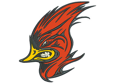 "Embroidery Design: Cardinal 6"" Applique 5.77w X 6.01h"