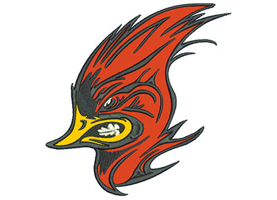 "Embroidery Design: Cardinal 7"" Applique 6.73w X 7.01h"