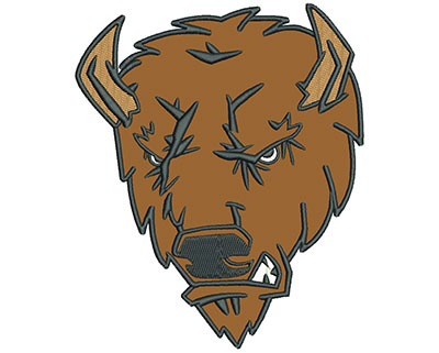 "Embroidery Design: Buffalo 7"" Applique 5.86w X 7.01h"