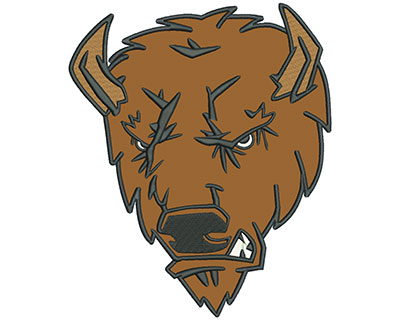 "Embroidery Design: Buffalo 8"" Applique 6.69w X 8.01h"