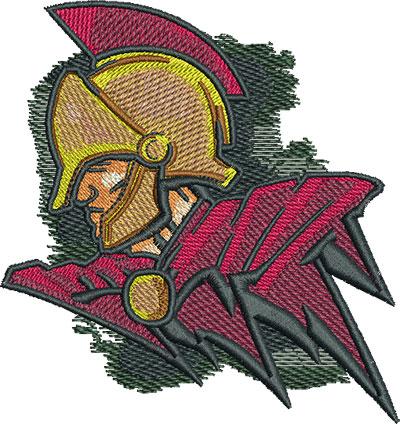 Embroidery Design: Trojan Warrior Lg 3.80w X 4.03h