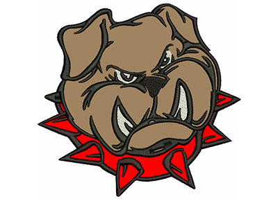 "Embroidery Design: Bulldog 6"" Applique 6.02w X 5.74h"