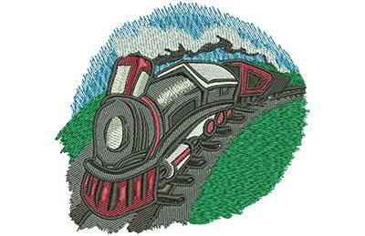 Embroidery Design: Kids Train Lg 4.61w X 4.27h