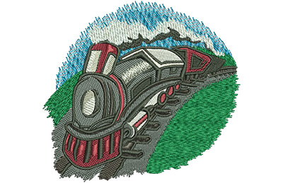 Embroidery Design: Kids Train Med 4.11w X 3.82h