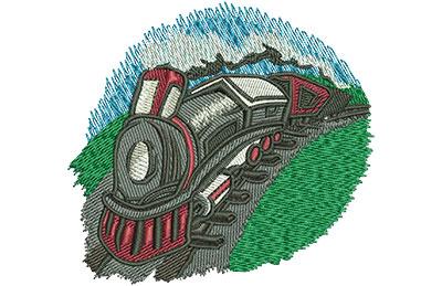 Embroidery Design: Kids Train Sm 3.59w X 3.36h