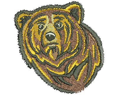 Embroidery Design: Bear Head Lg 3.87w X 3.97h