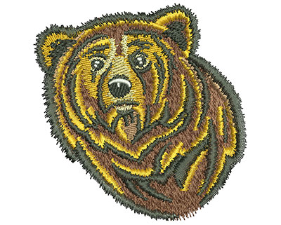 Embroidery Design: Bear Head Med 3.39w X 3.46h