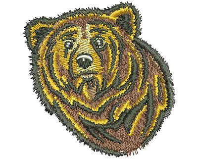 Embroidery Design: Bear Head Sm 2.90w X 2.97h