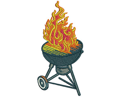 Embroidery Design: BBQ Grill Lg 1.95w X 4.03h
