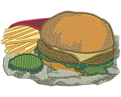 Embroidery Design: Value Meal Lg 3.94w X 2.51h