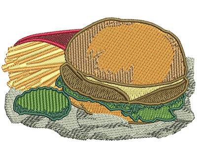 Embroidery Design: Value Meal Med 3.44w X 2.19h