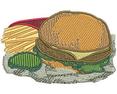 Embroidery Design: Value Meal Sm 2.94w X 1.88h