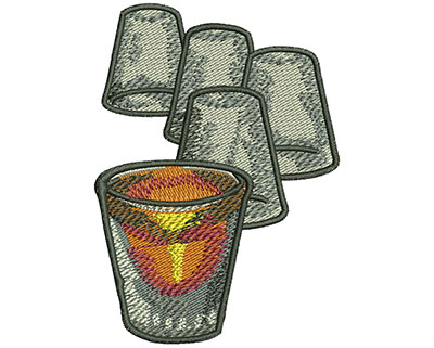 Embroidery Design: Shot Glasses Sm 2.21w X 3.08h