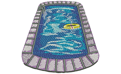 Embroidery Design: Swimming Pool Lg 4.23w X 3.94h