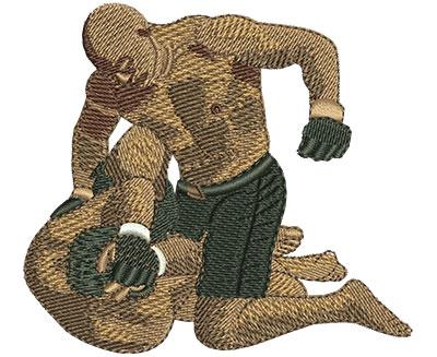 Embroidery Design: MMA Fight Lg 3.47w X 3.13h