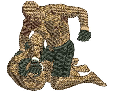 Embroidery Design: MMA Fight Med 2.98w X 2.68h