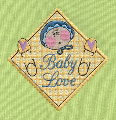 "Embroidery Design: Baby Love 15.42"" x 5.45"""
