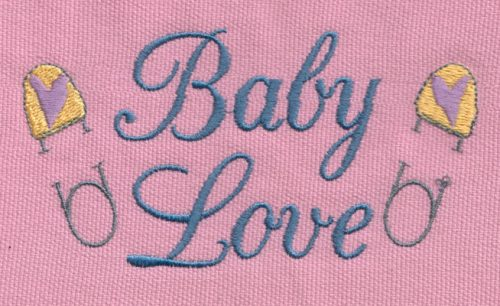 "Embroidery Design: Baby Love 34.98"" x 2.60"""