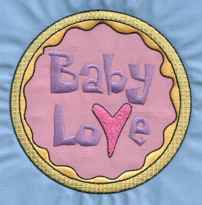"Embroidery Design: Baby Love5.96"" x 5.85"""