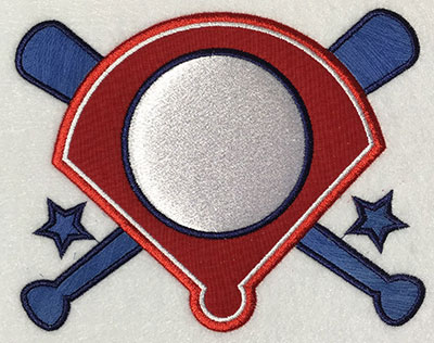 Embroidery Design: Diamond Monogram Applique 6.28w X 5.03h