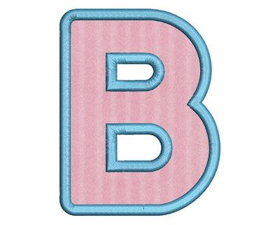 Embroidery Design: B Bold Applique Small 2.92w X 3.76h