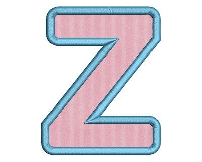 Embroidery Design: Z Bold Applique Small 3.01w X 3.76h
