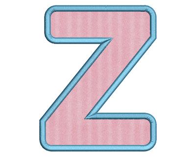 Embroidery Design: Z Bold Applique Medium 3.80w X 4.76h