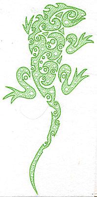 Embroidery Design: Iguana 4.79w X 10.31h