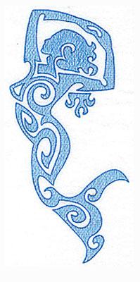 Embroidery Design: Mermaid 4.23w X 9.32h