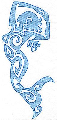 Embroidery Design: Mermaid 4.87w X 10.72h