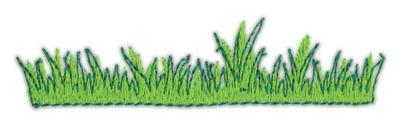 "Embroidery Design: Grass 13.72"" x 0.91"""