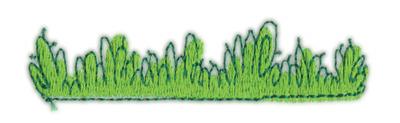 "Embroidery Design: Grass 23.42"" x 0.83"""