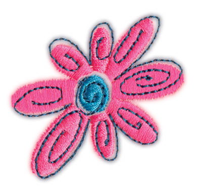 "Embroidery Design: Flower 12.01"" x 1.84"""