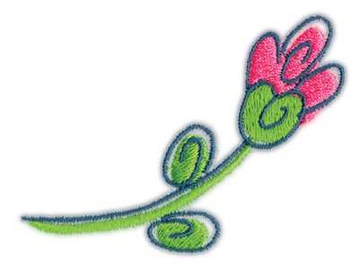 """Embroidery Design: Flower 23.18"""" x 2.28"""""""