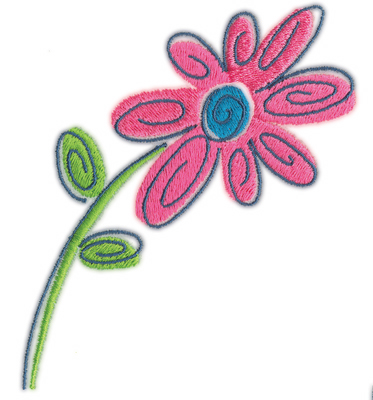 """Embroidery Design: Flower 33.83"""" x 4.43"""""""