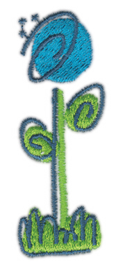 """Embroidery Design: Flower 40.99"""" x 2.76"""""""