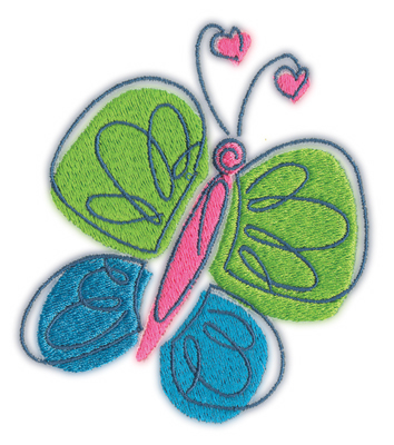 "Embroidery Design: Butterfly 23.62"" x 4.05"""