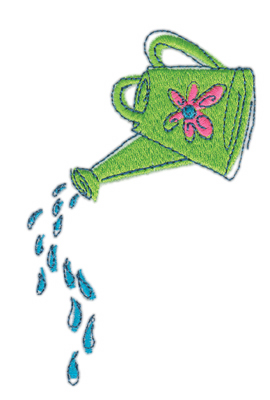"""Embroidery Design: Water Can w/ water2.40"""" x 1.60"""""""