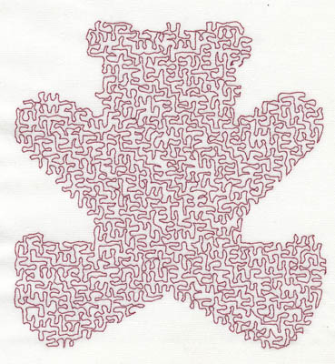 Embroidery Design: Stipple Bear High 4.63w X 4.94h