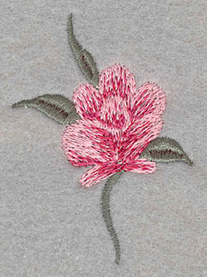 Embroidery Design: Single Rose Small1.71w X 2.49h