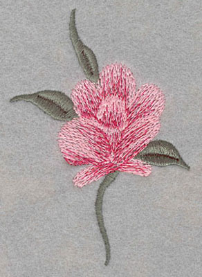 Embroidery Design: Single Rose Large2.75w X 4.0h
