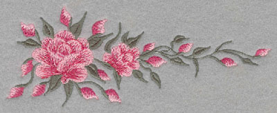 Embroidery Design: Roses Horizontal Two6.57w X 2.55h