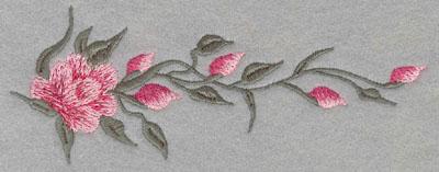 Embroidery Design: Rose Single Horizontal Large5.94w X 2.3h