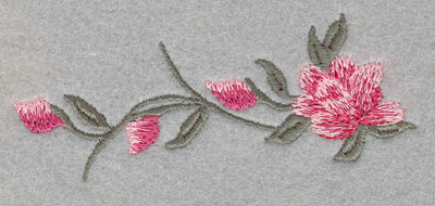 Embroidery Design: Rose with Three Buds Large4.0w X 1.52h