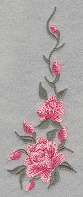 Embroidery Design: Roses Two Vertical 2 Buds Small1.87w X 4.92h